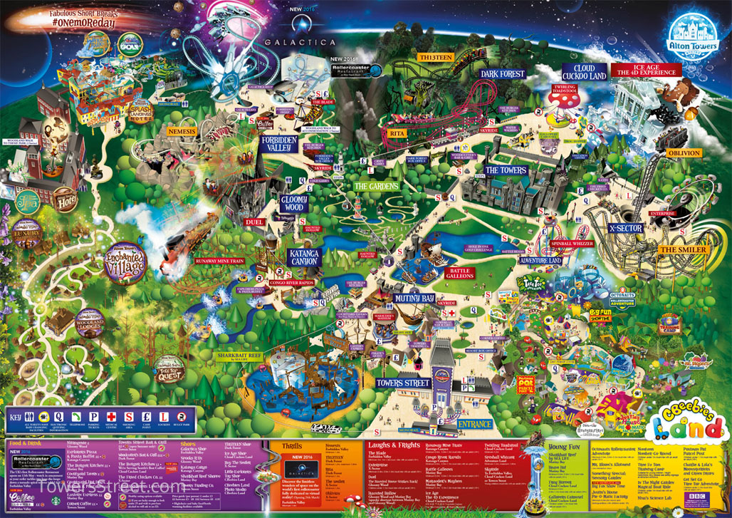 Map Of Alton Towers Towers Atlas – TowersStreet   Your premier Alton Towers guide!