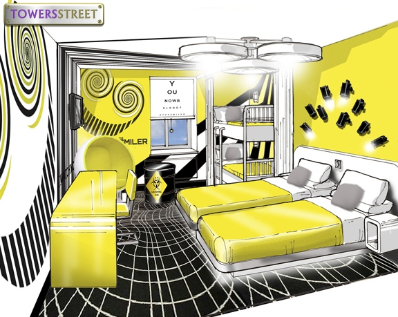 Alton Towers Hotel Smiler Room