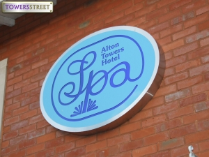 Alton Towers Spa - external signage