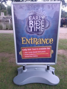 Early Ride Time entrance