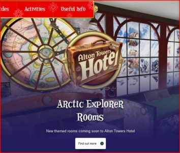 Screenshot from Atlon Towers website showing concept of new Arctic Explorer themed rooms