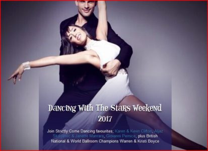 Screenshot from Alton Towers website of Dancing with the Stars themed weekend